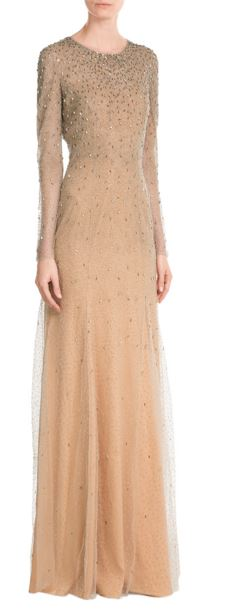 party-dresses-winter-holiday-dressing-outfit-2015-jenny-peckham-sequin-gown-embellished-peach-sheer-back