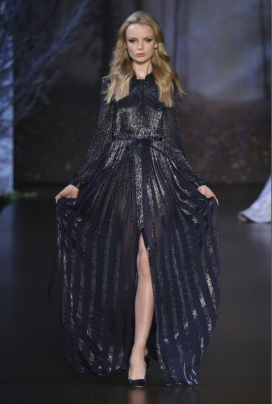 ralph-russo-aw-2015-2016-fall-winter-collection-review-front-cut-sequin-net-navy-blue-dress