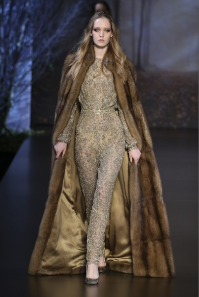 ralph-russo-aw-2015-2016-fall-winter-collection-review-gold-sequin-jumpsuit-wool-cape-dress