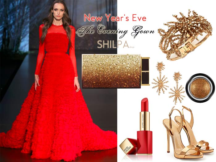 red-evening-gown-formal-cocktail-dress-outfit-what-to-wear-with-pair-party-charity-gala-fancy-black-tie