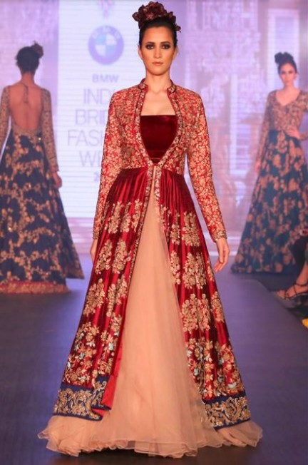 Designer indian wedding dresses high cut wedding dresses for Wedding dresses online in india