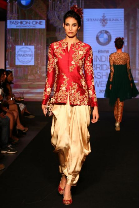 shyamal-bhumika-red-gold-designer-indian-wedding-dresses-cocktail-night-salwar-jacket-trousers-indo-western