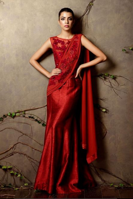 shyamal-bhumika-red-gown-designer-indian-wedding-dress-cocktail-night-couture