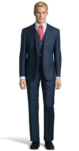 window-pane-suit-mens-suit-style-2015-blue-deep-blue-formal-wear