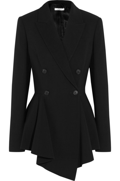 winter-2016-latest-top-jacket-trends-assymetric-peplum-black-crepe-blazer-coat
