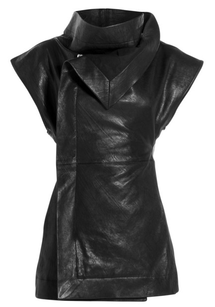 winter-2016-latest-top-jacket-trends-leather-jacket-assymetric-sleeveless-hood