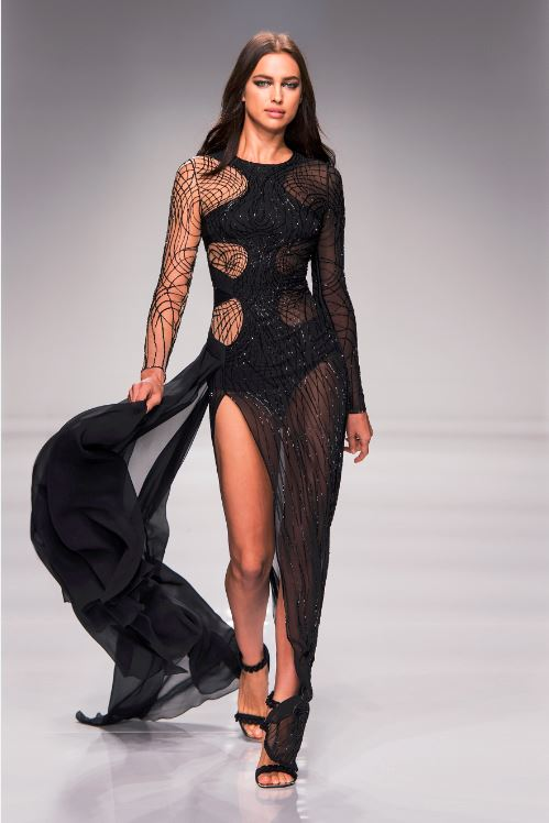 36-atelier-versace-ss-2016-couture-fashion-show-black-sheer-cut-out-string-lines-design-pattern-slit-dress