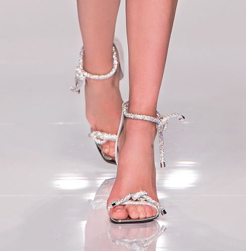 Atelier-Versace SS16-athletic-couture-fashion-show-spring-2016-silver-shoes-swarovski