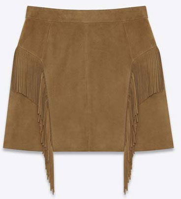SAINT-LAURENT-FRINGED-SKIRT-IN-TOBACCO-SUEDE