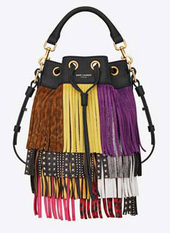 SAINT-LAURENT-SMALL-EMMANUELLE-FRINGED-BUCKET-BAG-IN-BLACK-AND-MULTICOLOR-LEATHER