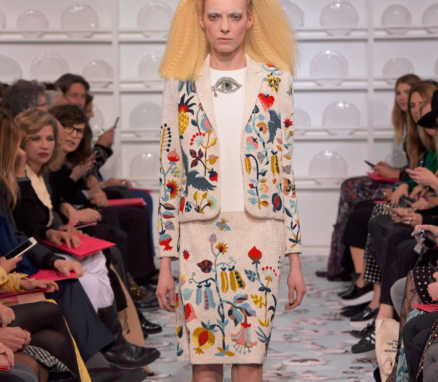 Schiaparelli-spring-summer-2016-couture-fashion-show-kitchen-garden-vegetable-motif-pattern-dress-outfit