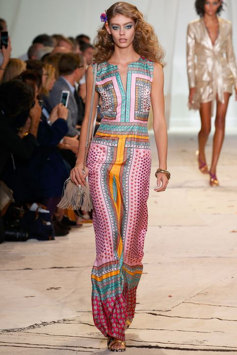 best-top-latest-looks-new-york-fashion-week-spring-summer-2016-rtw-outfits-diane-von-furstenberg-pink-jumpsuit-print