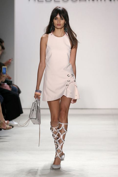 best-top-latest-looks-new-york-fashion-week-spring-summer-2016-rtw-outfits-rebecca-minkoff-eggshell-cream-white-mini-dress-cut-out-boots