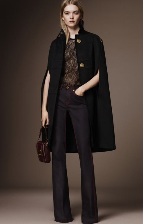 best-top-pre-fall-2016-looks-dresses-burberry-black-flared-pants-cape-jacket
