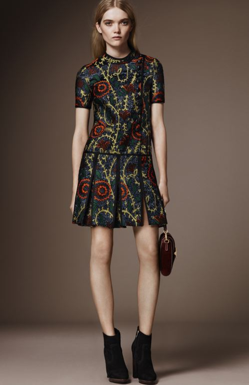 best-top-pre-fall-2016-looks-dresses-burberry-print-skirt-top-multi-slit-pleated-mini
