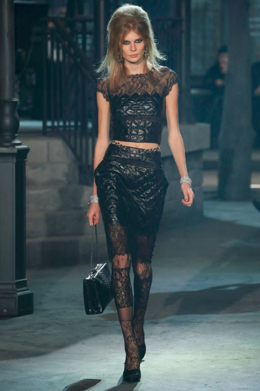 best-top-pre-fall-2016-looks-dresses-chanel-quiltedskirt-2-piece-dress-lace-tights-black