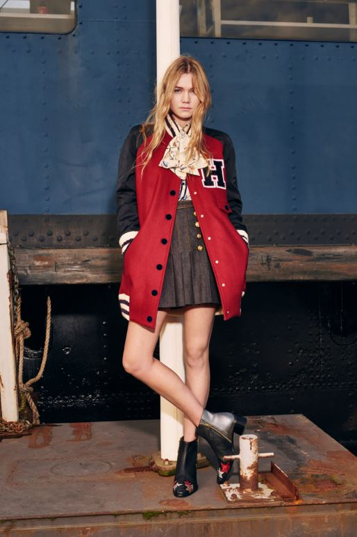 best-top-pre-fall-2016-looks-dresses-tommy-hilfiger-harvard-H-crimson-jacket