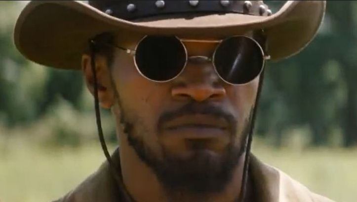 django-unchained-jamie foxx-round-sunglasses-most-iconic-hollywood-actor