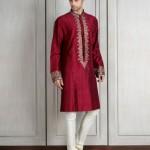indian-men-designer-wedding-marriage-outfit-clothing-maroon-kurta-manish-malhotra