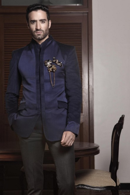 indian-men-traditional-wedding-marriage-wear-clothing-designer-navy-blue-jacket-dress-outfit