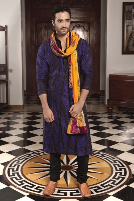 indian-men-traditional-wedding-marriage-wear-clothing-purple-designer-kurta-stole-nivedita-saboo