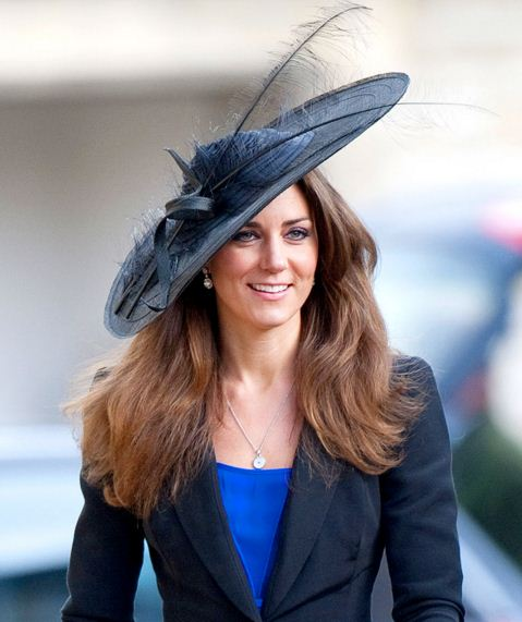 kate-middleton-best-hats-feather-navy-large-suit-celeb-princess-look