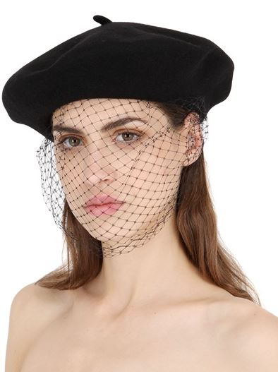 latest-hat-trends-winter-2016-beret-with-veil-black-mesh