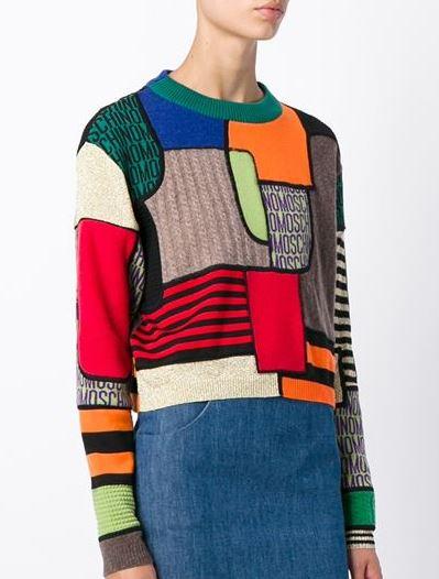latest-winter-2016-sweater-trends-moschino-multicolor-print-crop