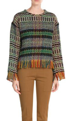 latest-winter-2016-sweater-trends-multicolor-fringe-pullover-check