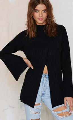 latest-winter-2016-sweater-trends-nasty-gal-front-slit-black-long