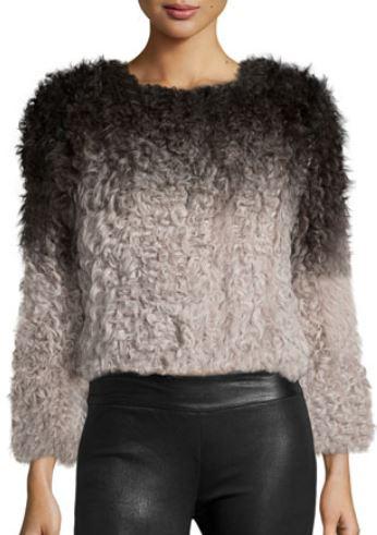 latest-winter-2016-sweater-trends-ombre-long-sleeve-fur-black-grey