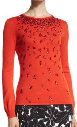 latest-winter-2016-sweater-trends-oscar-de-la-renta-embellished-sequin-red