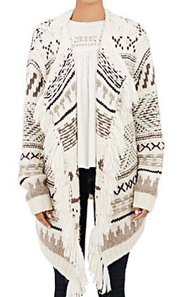 latest-winter-2016-sweater-trends-ulla-johnson-marrakech-inspired-print-cardigan-fringe-front-open-buttonless