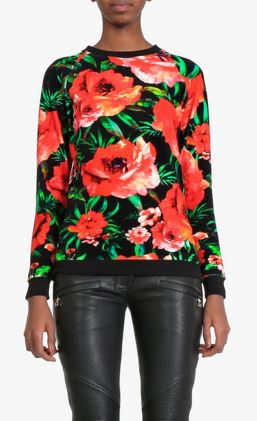 latest-winter-sweater-trends-2016-balmain-floral-print-cotton-velvet-red