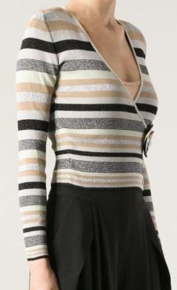 latest-winter-sweater-trends-2016-chanel-stripe-white-black-sweater-wrap-flower