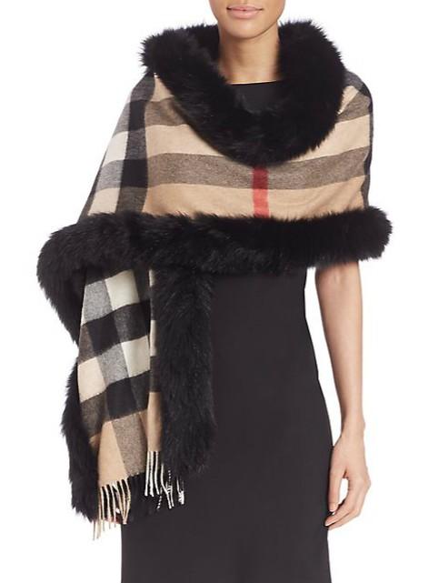 women-winter-accessories-fashion-fur-wool-black-scarf
