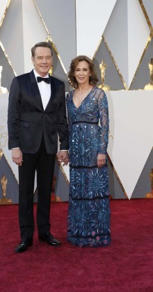 Bryan Cranston and Robin Dearden-Oscars-awards-Red-carpet-2016-mens-fashion-best-looks-tux