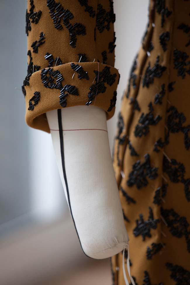 Dior Couture Spring 2016 Fashion Week Behind the Scenes Dress Embroidery Details