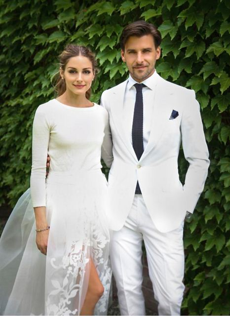 Olivia-Palermo-wedding-dress-best-celebrity-wedding-dresses-bridal-white-slit