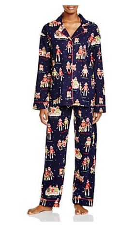 PJ-Salvage-Monkeys-Flannel-Pajama-Set