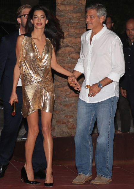 amal-clooney-best-party-dresses-golden-silk-gown-celeb-george-celebrity