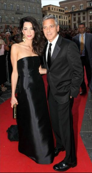amal-clooney-best-red-carpet-dresses-black-strapless-silk-gown-celeb-george-celebrity-2