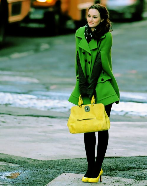 best-gossip-girl-winter-outfit-blair-waldorf-leighton-meester-cute-green-dress