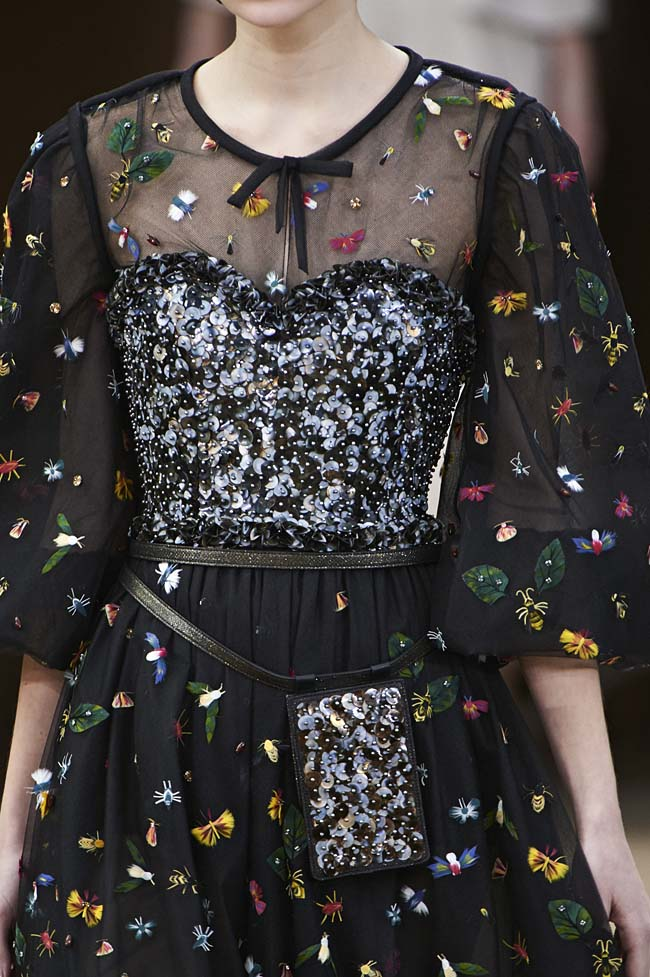 chanel-spring-2016-couture-fashion-show-ss16-detail-black-dress-embellished-fly-flowers
