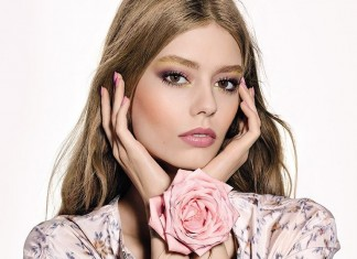 dior-latest-trends-makeup-styles spring-summer-2016-look-rosy-blush-pink-gold-eyeshadow