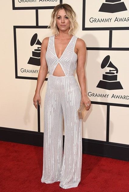grammy-awards-2016-best-red-carpet-dresses-appearances-kaley-cuoco