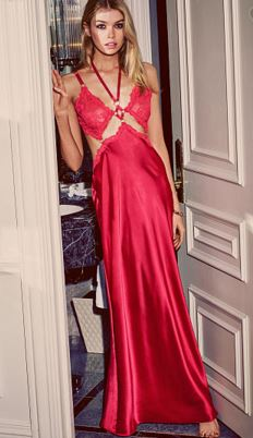 honeymoon-dresses-victorias-secret-red-lace-silk-satin-gown-night-dress-nightie