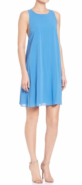 honeymoon-shopping-sexy-comfortable-outfit-blue-racerback-silk-dress-sleeveless