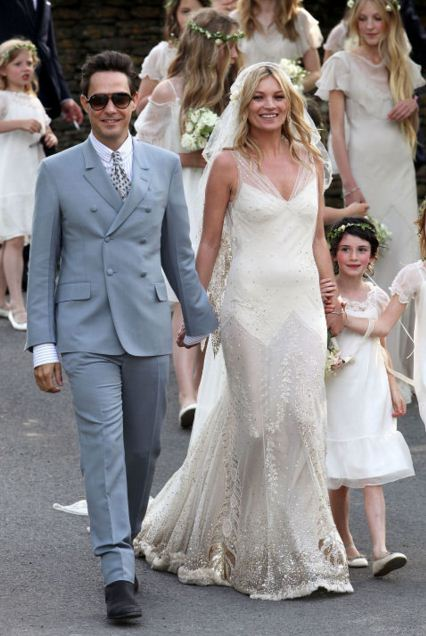 kate-moss-white-gown-best-celebrity-wedding-dresses-bridal