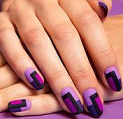 latest-nail-art-trends-spring-summer-2016-nailpolish-designs-ideas-color-blocking-purple